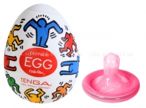 Супер эластичный мастурбатор-яйцо Keith Ham белый