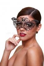 Черная маскарадная маска со стразами Masq Madame