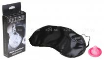 Атласная мягкая маска для глаз Satin Love Mask