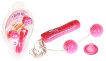 Мощные вибро-шарики с шипами Vibrator Balls