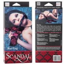 Кляп-палочка с роскошными лентами Scandal Bar Gag