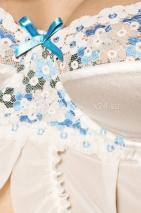 Белый пеньюар с кружевными вставками на груди Angel LXL
