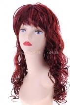 Карнавальный бордовый парик