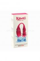 Вибромассажер для пар с вращающимся клиторальным стимулятором Kawaii Daisuki 4 (8 режимов)