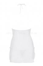 Белая сорочка с бежевым кружевом Bisquitta Chemise SM