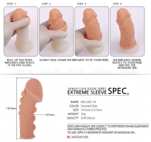 Стимулирующая насадка на пенис с огромной головкой KOKOS