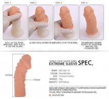 Стимулирующая насадка на пенис с пупырышками KOKOS