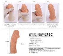 Стимулирующая насадка на пенис с венками KOKOS
