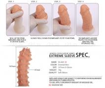 Стимулирующая насадка на пенис KOKOS