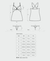 Сетчатое мини-платье с кружевом Intensa Chemise XXL