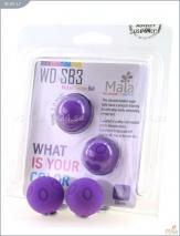 Металлические шарики с  фиолетовым текстурированным силиконовым покрытием MAIA SILICON BALL SB3