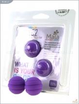 Металлические шарики со спиральным фиолетовым силиконовым покрытием MAIA SILICON BALL SB2