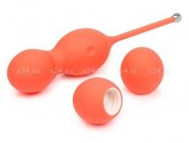 Мощные вагинальные шарики c вибрацией и сменными грузами We-Vibe Bloom(10 режимов вибрации)
