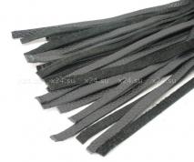 Кожаная плеть-хвост со штырьком для насадок 40 см