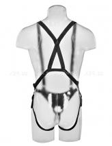 Страпон-система (страпон-трусики на подтяжках с фаллосом-фаллопротезом) 10'' Hollow Strap-On Suspender System
