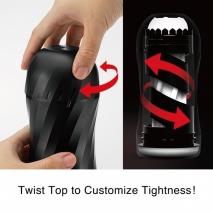 Многоразовый мастурбатор с регулировкой сжатия Air-Tech Twist Ripple