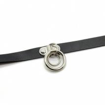 Кожаный чокер с кольцами Bijoux Pour Toi