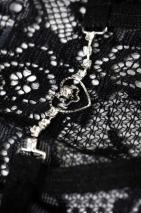 Трусики черные с сердечком и стразами Joli Lillian, OneSize