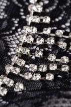 Трусики черные со стразами Joli Belinda, OneSize