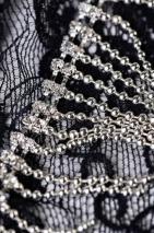 Трусики черные со стразами и украшением сбоку Joli Candice, OneSize