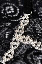 Трусики черные с украшением из страз Joli Gina, OneSize