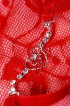 Трусики красные с сердечком и стразами Joli Lillian, OneSize
