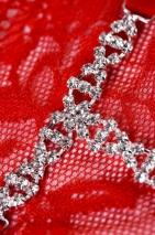 Трусики красные с украшением из страз Joli Gina, OneSize