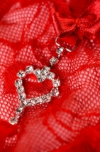 Трусики красные с сердечком из страз Joli Jamie, OneSize