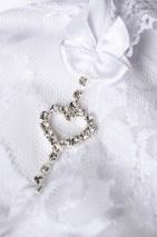 Трусики белые с сердечком из страз Joli Jamie, OneSize