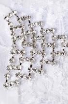 Трусики белые с украшением из страз в виде треугольника Joli Chantal, OneSize