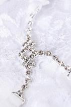 Трусики белые с нежным украшением из страз Joli Terri, OneSize