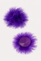 Круглые пестисы с пухом фиолетовые Erolanta