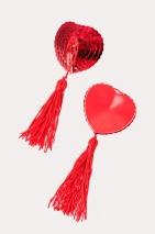 Пестис сердечки из пайеток красные Erolanta