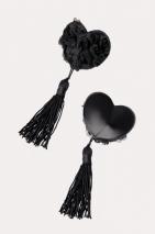 Пестис черные сердечки с розами и кистями Erolanta