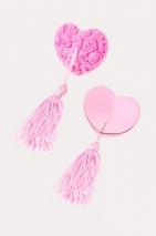 Пестис розовые сердечки с розами и кистями Erolanta