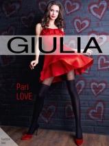 Колготки с имитацией чулок и красными сердечками Pari Love модель N60 M (60 den)