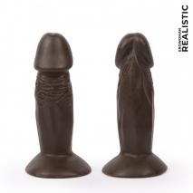 Небольшой коричневый фаллос-реалистик на присоске Realistic