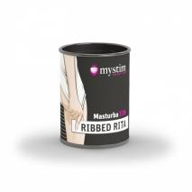 Компактный мастурбатор с рельефом внутри Mystim MasturbaTIN Ribbed Rita