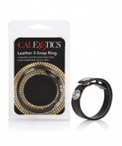 Кожаное эрекционное кольцо Leather 3-Snap Ring