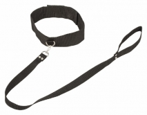Ошейник с поводком Bondage Collection Collar and Leash (Plus Size)