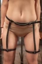 Гартеры из натуральной кожи Оливи Passion Belts