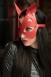 Красная маска с ушками из натуральной кожи Passion Belts0