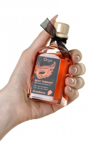 Набор для сладких игр Orgie Lips Massage со вкусом клубники (100 мл)
