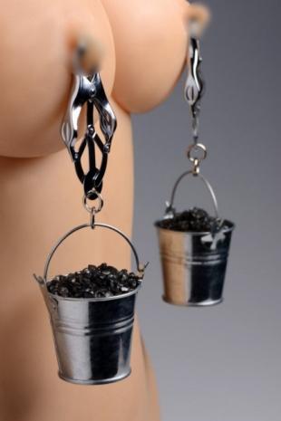 Зажимы на соски с ведерками для груза Master Series Jugs Nipple Clamps with Buckets