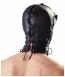 Маска-шлем с ошейником и молнией для полной сенсорной депривации Double Mask by fetish collection5