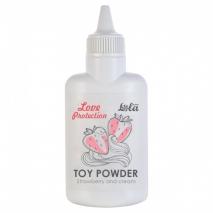 Ароматизированная пудра для игрушек Love Protection Клубника со сливками (30 гр)