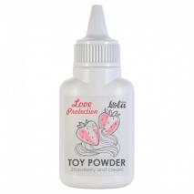 Ароматизированная пудра для игрушек Love Protection Клубника со сливками (15 гр)
