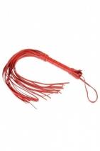 Красная плеть с кожаной рукояткой и замшевыми лентами