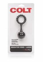 Эрекционное кольцо с утяжелителем Colt Weighted Ring - Large