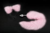 Игровой набор с анальной пробкой с розовым хвостом и ушками